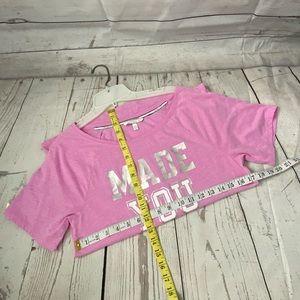 Victoria's Secret Tops - Victoria's Secret XS Pink Made You Look T-shirt